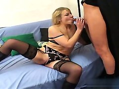 Hot slut blowjob cum swallow
