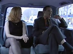 Priscilla threesome in Taxi