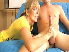 Mrs. Sexton  Milks Cock