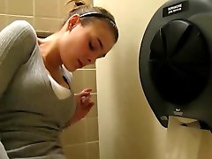 Playing With My Pussy in PUBLIC Washroom