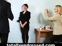 Hardcore job interview for hot secretary