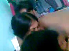 Sexy cute indian girl with group of males-1