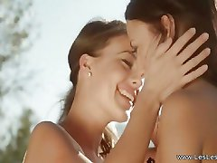 Les Lesbietės Mylintis Lauke