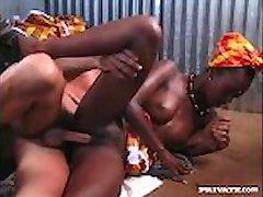 Ebony Beauty Bagheera Is Fucked by a Hard White Cock