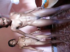 2 black teen on naked sport