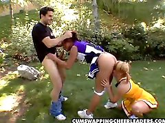 HOT  Cum Swapping Cheerleaders  Katja Kassin  Jasmine Byrne  HOT