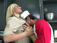 HOT BIG TIT BLONDE COP FUCKS BIG DICK FOR ORGASM