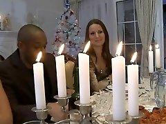 Hardcore Kalėdų vakarienė orgija