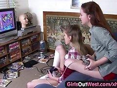 Djevojke na Zapad - lesbian gay s dlakavog i ukrašeni пезды