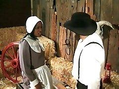 Farmer-амиш annalizes crna sluškinja