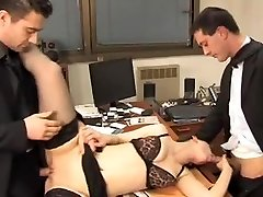 Secretary fucks 2. dp.