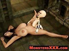 Horrible 3d Creatures fucking virginal chicks