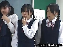 Japanese college girls in the classroom are part2