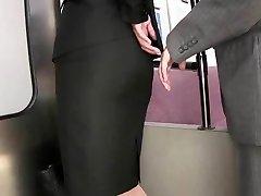 groping tight skirt grope in train