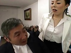 Japanese Manager fucks her employee so firm at office - RTS