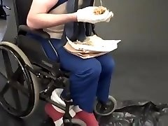 extraordinary fetish - sonic in a wheelchair tonguing a chili
