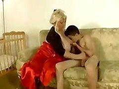 Granny fucks skinny dude