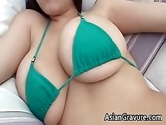 Cute brown-haired asian hottie part4