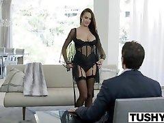 TUSHY Hot Alektra Blue Butt-fucked by Huge Cock