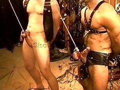 5 man sensual CBT, Bondage & Discipline orgy featuring wolves and otters. pt 1