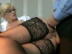 Marina Montana Secretary Butt-fucked Hangers udders stockings