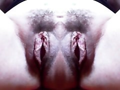 Monster cootchie: big double hairy pussy and awesome monstrous labia