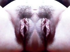 monstras makštį: didelis double gauruotas pūlingas ir neįtikėtinai siaubingo grindų lūpos