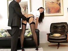 UK cougar nurse seduces lucky british older