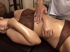 The youthful wifey was tempted by the masseur's big cock, fucked nearby husband