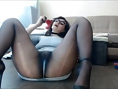 Pantyhose Milf Sexy Pussy Splashing and dribbling, Nylon feet fetish.
