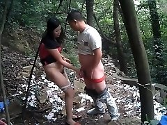 Chinese straight bear and rent woman