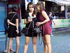 pataja walking street nightlife and ladyboy, thailand 2020