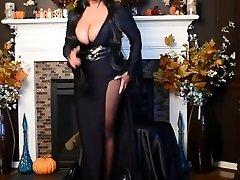 Elvira is poking hot