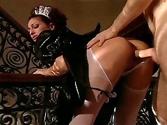 Rich man has to fuck gorgeous maid first