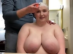 Giving BBW Smooth Bald Head Shave