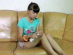 Tempting dark-haired babe Karmilla foldles her tasty wet snatch