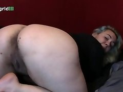 chubby demonstrating her big ass and ugly for us
