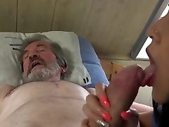 Young sexual healing for old stud in pain