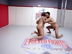 Daisy Ducati bare wrestling fuck session with Oliver at Evolved Fights