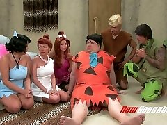 Crazy porn parody video to the Flintstones cartoon movie