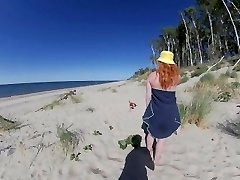 STRANGERS CUM IN MY SWIMSUIT PANTIES ON PUBLIC BEACH! Risky Xxl Tits Red Hairy Gash Milf GINGER ALE