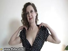 Erotic older lady in stellar lingerie loves part4