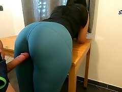 Step Mom teases, rubs because she just wants to be torn up by her Step Son again, loves cock too much