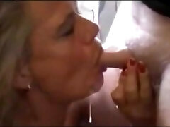 Mature Loves Young Cum