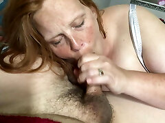 Wife sucks and drinks