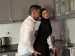 Sexy surprise for Muslim wifey