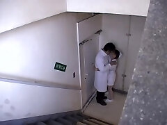 Doctor shagged a insatiable nurse thinking no one was there