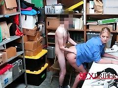 Rachael makes shoplifter nail her cunt