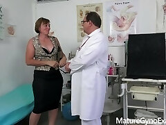 Mischievous czech countrywoman examined by freaky doctor