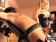 2 slaves and a blonde hot girl